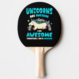 Magic Unicorn Ping Pong Paddle