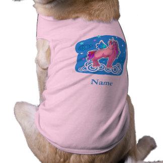 Magic Unicorn with wings Sleeveless Dog Shirt