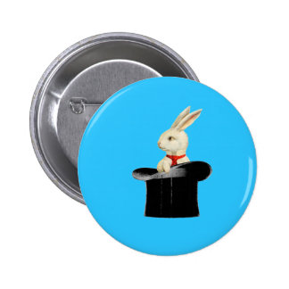 magic vintage top hat rabbit 6 cm round badge