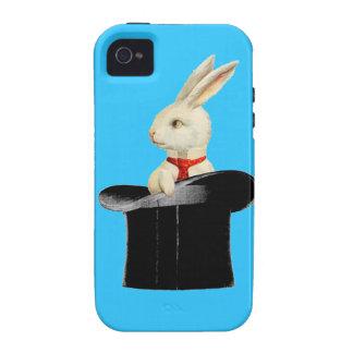 magic vintage top hat rabbit iPhone 4/4S cases