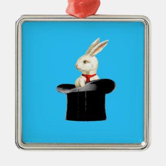 magic vintage top hat rabbit christmas ornament