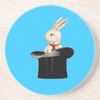 magic vintage top hat rabbit coaster