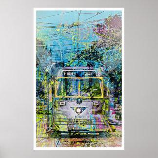 Magic vintage Tramway of Market St San Francisco Poster
