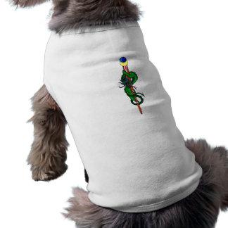 Magic wand wound sleeveless dog shirt
