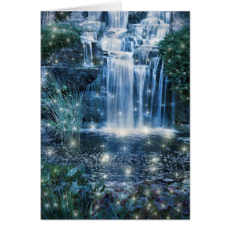 Magic Waterfall Greeting Card