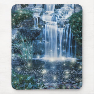 Magic waterfall mouse mat