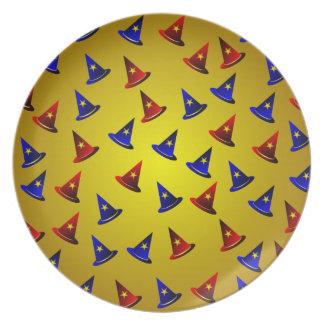 Magic Wizard Hats Pattern Plate