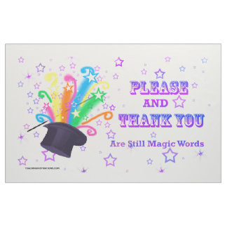 """Magic Words"" Bulletin Board Fabric Design"