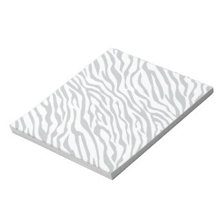 Magic Zebra Stripes Click to Customize Grey Color Notepad