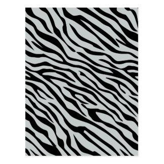 Magic Zebra Stripes Click to Customize Grey Color Postcard