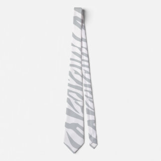 Magic Zebra Stripes Click to Customize Grey Color Tie