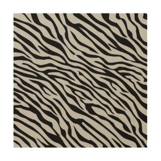 Magic Zebra Stripes Click to Customize Grey Color Wood Prints