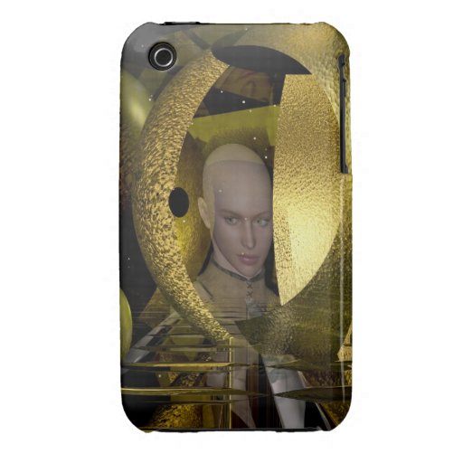 Magical 3-D Abstract & Woman iPhone 3 Case-Mate Cases