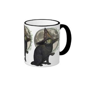 Magical Black Cat Coffee Mugs
