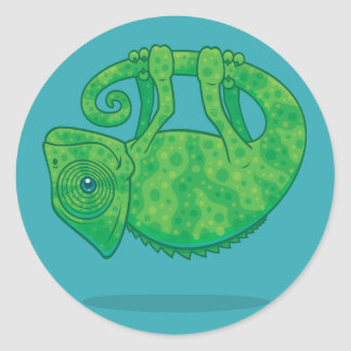 Magical Chameleon Classic Round Sticker