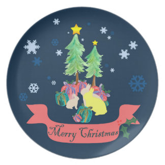 Magical Christmas Forest Plate