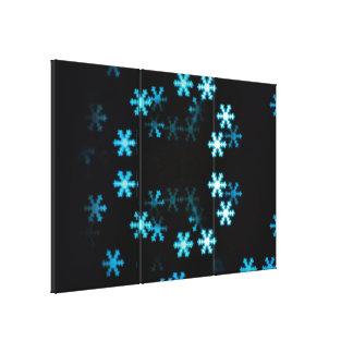 Magical Christmas Snowflakes Canvas Print