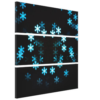 Magical Christmas Snowflakes Gallery Wrap Canvas