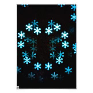 Magical Christmas Snowflakes Photo Print