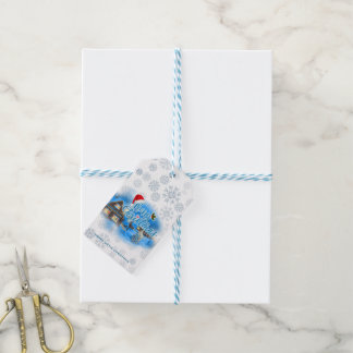 Magical Christmas Village Gift Tags