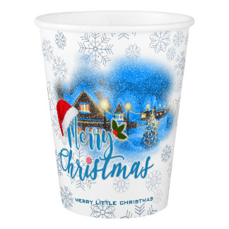 Magical Christmas Village Paper Cup