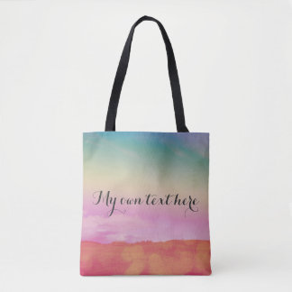 Magical colours tote bag with your own text