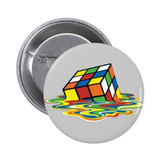 Magical cube 6 cm round badge