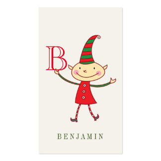 Magical Cute Christmas Elf Holiday DIY Gift Tag Pack Of Standard Business Cards