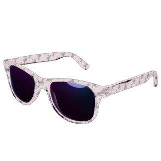 Magical Cute Unicorn Pattern Black Pink Funny Sunglasses