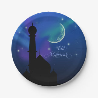 Magical Eid Night - Islamic Greeting Paper Plate
