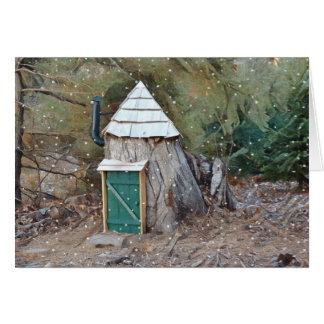Magical Elf House Card