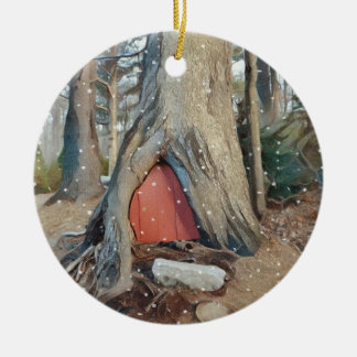 Magical Elf House Christmas Ornament