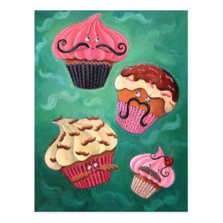 Magical Emporium of Flying Mustached Cupcakes Postcard