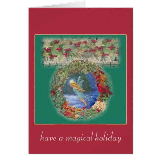 magical fairy christmas nocturne card