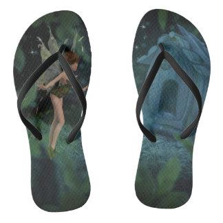Magical Fairy Design Flip Flops
