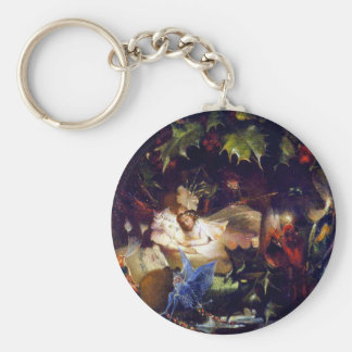 Magical Fairy Fantasy Painting: The Fairy Bower Basic Round Button Key Ring