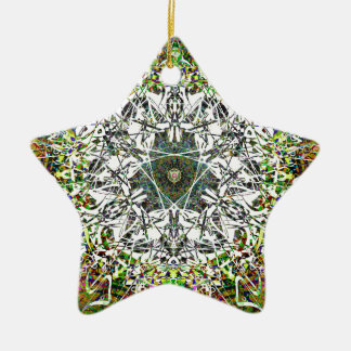 Magical Fairy Forest Pattern Christmas Ornament