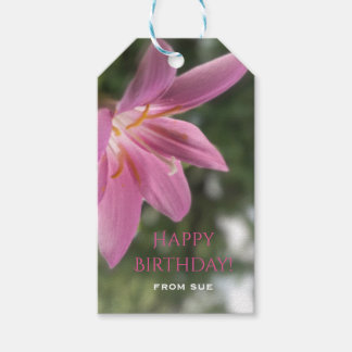 Magical Fairy Lily Custom Birthday Gift Tags