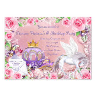Magical Fairy Tale Princess Birthday Party Card
