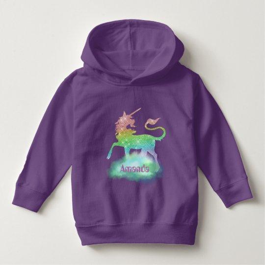 Magical Fantasy unicorn toddler girls hoodie