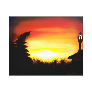 Magical Firefly Frenzy Dreamy Mirage Gallery Wrapped Canvas