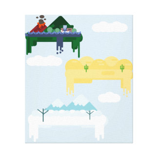 Magical Floating Islands Canvas Print