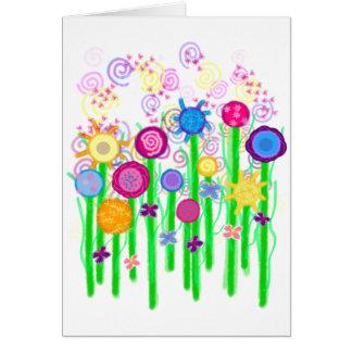 Magical Flowers Card