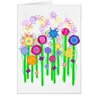Magical Flowers Greeting Card