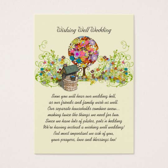 Magical Forest Circle of Love Flower Tree Wedding Business Card