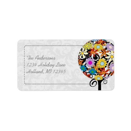 Magical Forest Circle of Love Flower Tree Wedding Label