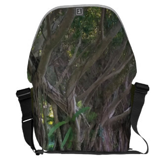 Magical Forest Trees Print Messenger Bag