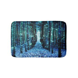 Magical Forest Turquoise Teal Bath Mats