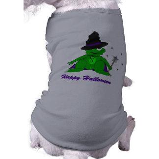 Magical Frog Happy Halloween Doggy Tshirt Sleeveless Dog Shirt