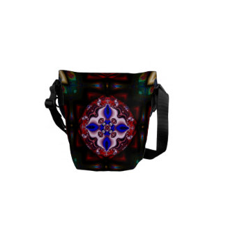 Magical Garden l Fractal Geometric Design Courier Bag